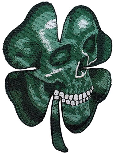 Harley Biker Skull Clover Celtic Embroidered Patch