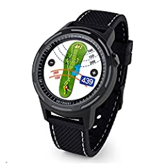 """Advanced Smart Golf GPS Watch with 2 Black Wristbands Included 1. 3"""" Full colour LCD display with responsive touch screen The 10-hour battery life in Golf mode lasts for up to 2 rounds of golf- rechargeable via USB Green Undulation data to show the s..."""