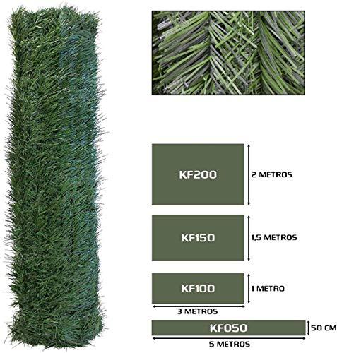 Seto Decor KF150B Seto Artificial Decorativo de Hoja Fina de 1,5 x 3 metros, Color Verde