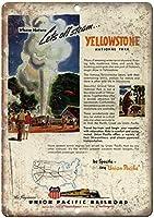 イエローストーン国立公園のチラシブリキの看板壁の装飾金属ポスターレトロなプラーク警告看板オフィスカフェクラブバーの工芸品