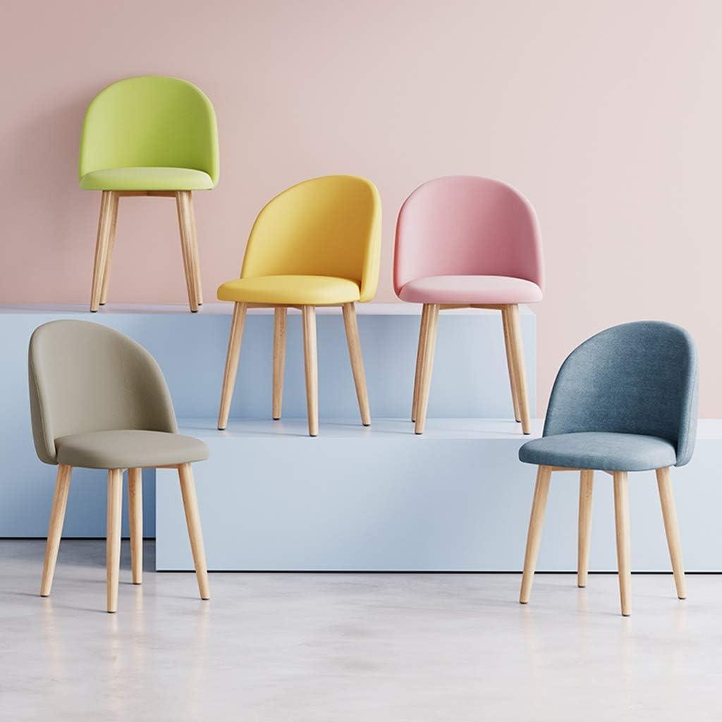 WDX- Chaise de Salle, Chaise de Bureau Simple, créative Dossier, Chaise Loisirs, Maison Adulte Chaise de Salle Confortable (Color : Green) Green