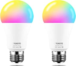 Smart WiFi LED Light Bulb Dimmable 9W 1000Lm, YUNSYE E27 Multicolor Light Bulb Compatible with Alexa, Echo, Google Home(No...