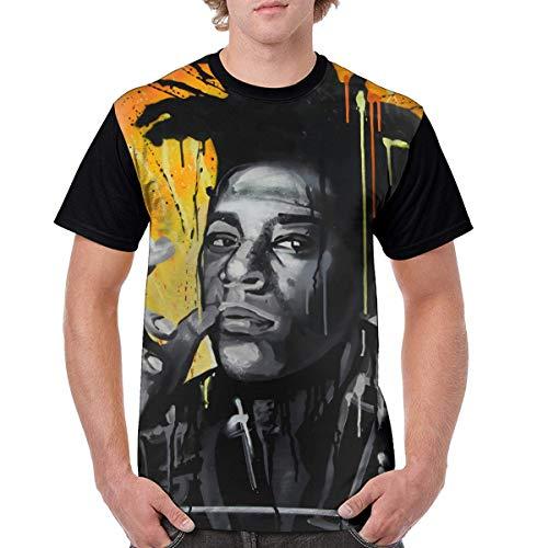 PerterOne Jean Michel Basquiat Shirt Hombres Camiseta Manga Corta Cuello Redondo Cuello Redondo Personalizada