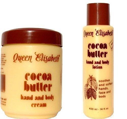 Queen Elizabeth Manteca de Cacao mano & Crema Corporal Plus