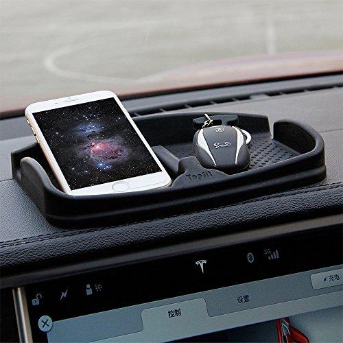 topfit Voiture Dash Mat Anti-Slip Téléphone portable Pad Universal Smartphone Dashboard Antidérapant Silicone Caoutchouc Gel Tapis Téléphone Support de Montage