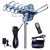 2019UPDATED-150 Miles-Amplified Outdoor TV Antenna-4K/1080p High Reception+40FT...