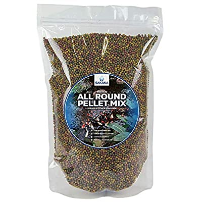 Sakana All Round Pond Pellets | Premium Quality Fish Food Mix | Healthy, Nutritious & Balanced Daily Feed for Aquatic Fish | High Protein Mixture, Great Source of Vitamins & Easily Digestible (250g) from Sakana