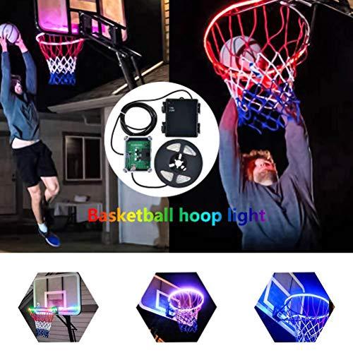 LED Basketball Hoop Licht Basketball Felge LED Sensor Licht Basketball Netz Zubehör für Indoor Outdoor Basketball-Spiel