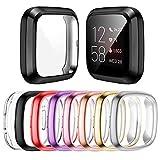 Mocodi 8-Pack Screen Protector Case Compatible with Fitbit Sense/Versa 3, TPU Protective Screen Cover Saver Bumper Accessories for Fitbit Sense/Versa 3 Smartwatch
