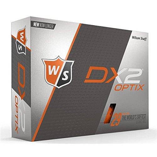 Wilson Staff Herren Golfbälle, 12er Pack, Anfänger, 29er Kompression, Dx2 SOFT, Neon-Orange, WGWP40900