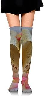 3.35 X 25.59 Cheerleading Atsdes Sliced Avocado Customized Long Over The Knee Socks For Sports Travel