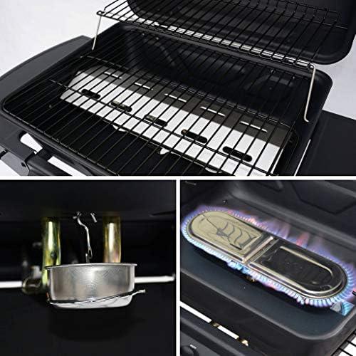 Alice's Garden Barbecue au gaz - Aramis - Cuisine extérieure 2 brûleurs avec tablettes latérales et thermomètre