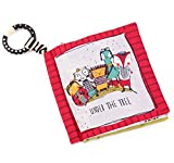 SNOWIE SOFT Crinkle Baby Cloth Books for Babies Toddlers, Nontoxic Soft Fabric Baby Educational...
