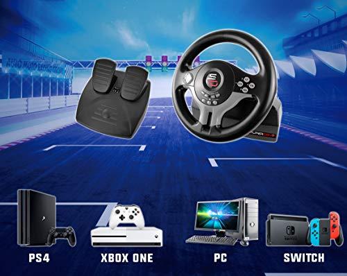Superdrive - Volante da corsa SV200 con pedali e pale del cambio per Nintendo Switch - PS4 - Xbox One - PC