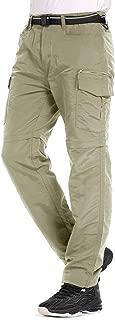 Jessie Kidden Hiking Pants Mens, Outdoor UPF 50+ Quick Dry Lightweight Zip Off Convertible Fishing Cargo Pants with Belt