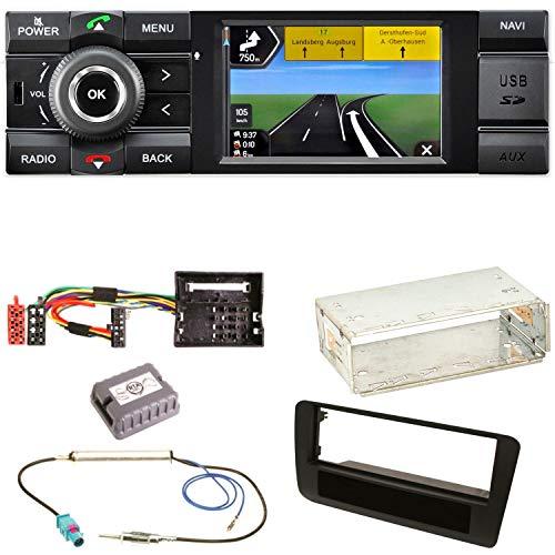 Kienzle MCR 1031 NAV Autoradio Digitalradio DAB+ Bluetooth USB AUX 1-DIN Navigation MP3 WMA FLAC Einbauset für Audi A1