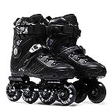 WENJUN Patines en línea para niños, adolescentes y adultos, patines para niños, niñas y jóvenes al aire libre para principiantes Unisex (color: negro, tamaño: EU 39/US 7/UK 6/JP 24.5cm)