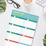 Bloc planificador semanal y diario tamaño a4. Organizador de 50 semanas para planificar tu calendario de tareas diarias, escolares, familiares, oposiciones. en definitiva tu agenda del día a día.