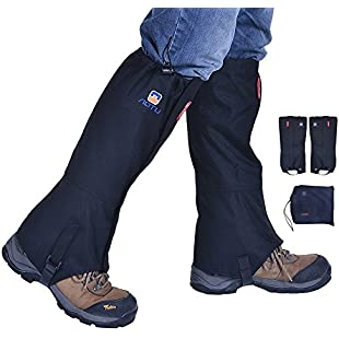 Rayami Snow Gaiters Unisex Waterproof Dustproof Leg Gaiters,Ultra Light Portable Leg Cover Protect,Anti-Tear Breathable Boot Guardian,Anti-bite High Gaiters Leg Guard For Camping Hunting Hiking Climbing Guard(Black):Maskedking