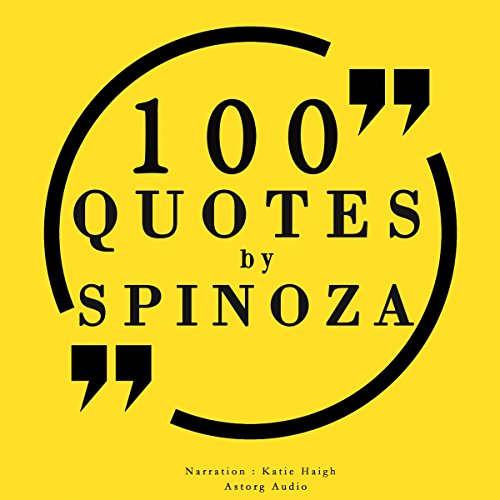 100 quotes by Spinoza audiobook cover art
