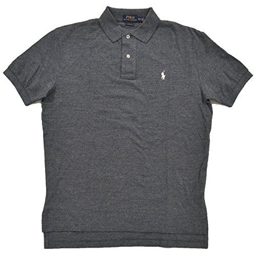 Polo Ralph Lauren Mens Polo Shirt Classic Fit (M, Black Heather)