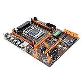 PUSOKEI Placa Base para computadora de Escritorio, Placa Base DDR4, 2133/2400/2800 MHz, Audio de 4 Canales, Placa Base de CPU, Compatible con Modo PCIE/SATA