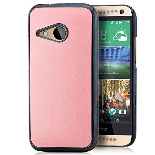 Saxonia HTC One Mini 2 Hülle Schutzhülle Case Slim Cover Rück Schale, Rosa
