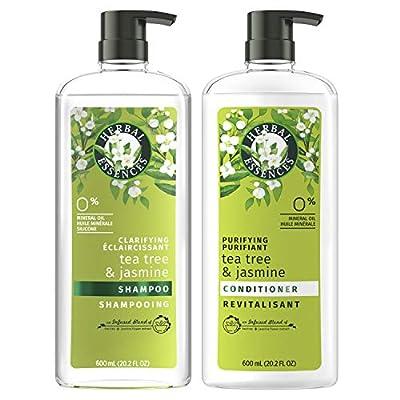 Herbal Essences, Clarifying Shampoo and Purifying Conditioner, Tea Tree and Jasmine, 20.2 Fl Oz Bundle by AmazonUs/PRFZ7