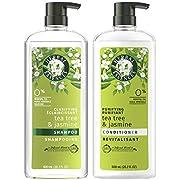 Herbal Essences, Clarifying Shampoo and Purifying Conditioner, Tea Tree and Jasmine, 20.2 Fl Oz Bundle