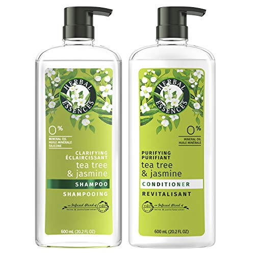 Herbal Essences, Clarifying Shampoo and Purifying Conditioner, Tea Tree and Jasmine, 20.2 Fl Oz Bundle