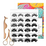 3D Mink Lashes 25mm Volume False Eyelashes Multi-layered Thick 12 Pairs MIX