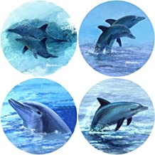 CoasterStone AS2030 Absorbent Coasters, 4-1/4-Inch, Dolphins, Set of 4