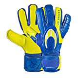 HO Soccer One Negative Robust Speed Blue Guantes De Portero, Unisex niños, Azul/Lima, 5,5