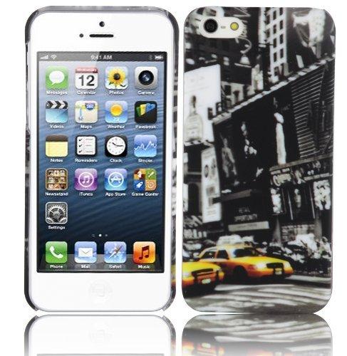 Cadorabo – TPU Hard Cover per  Apple iPhone 5 / iPhone 5S / iPhone SE  - Case Cover Involucro Bumper Accessorio in Design: New York Cab