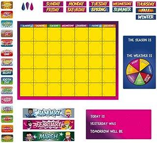 Renewing Minds Superheroes Customizable Calendar Bulletin Board Set, Multi-Colored, 103 Pieces