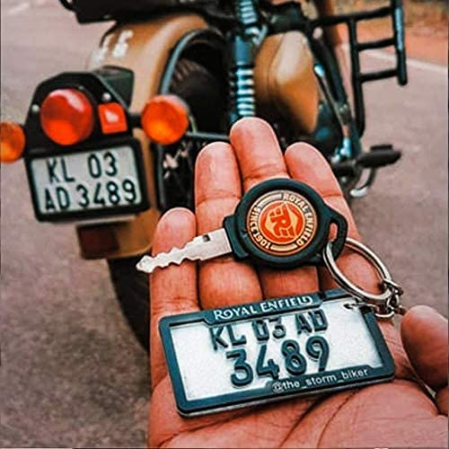 SHOPEWELL-Emboss Laser Cut Keychain for Car/Bike