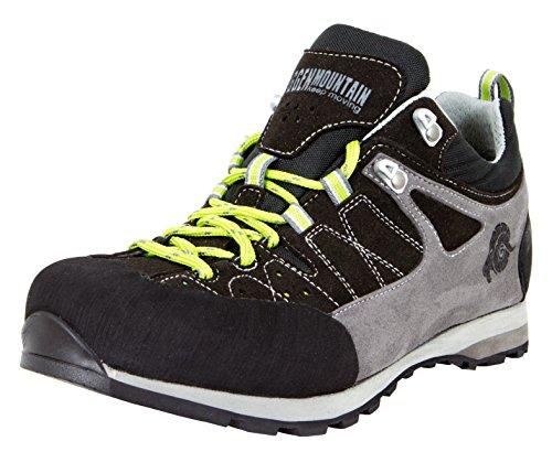 GUGGEN Mountain Chaussures Hommes Bottes de Randonn Chaussures de Marche Chaussures Plein air Vibram Semelle HPT52 Colour Noir EU 46 UK 12