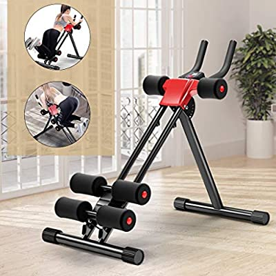 Abdominal Trainer Glider Machine Equipment - Foldable Fitness Core & Abdominal Trainers Workout Machine, Body Fitness Waist Power Exercise Workout Bench for Home Gym