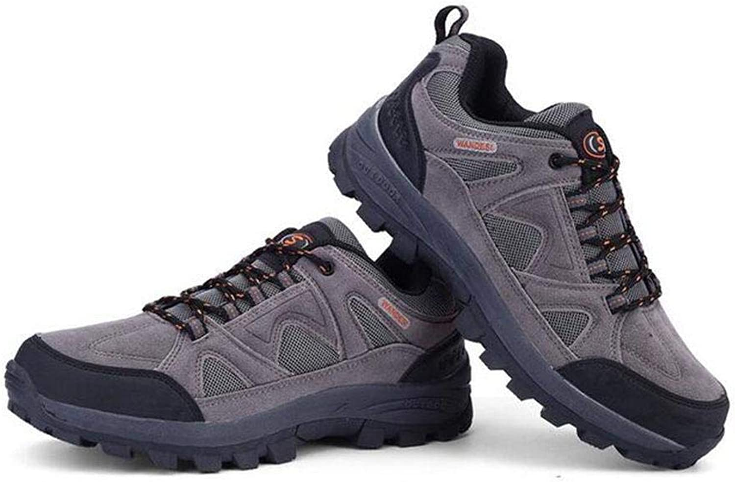 FuweiEncore sportsOutdoor hiking shoes men and women walking shoes anti-skid low to help outdoor shoes (color   Grey, Size   36)
