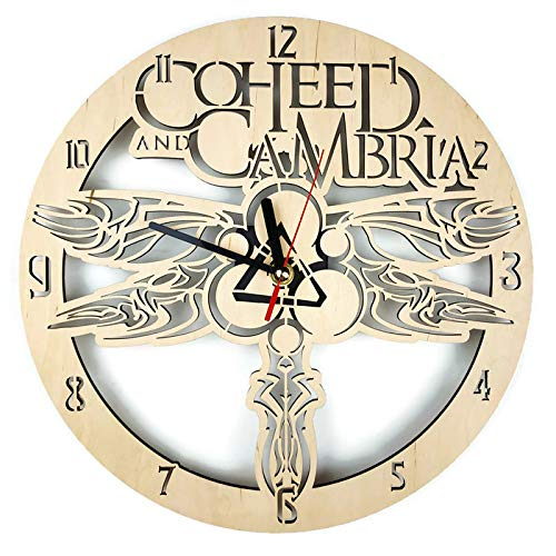 ShareArt Coheed and Cambria Silent Wood Wall Clock - Original Home Office Living Room Bedroom Kitchen Decor - Best Birthday Gift for Friends Men Woman - Unique Wall Art Design - Size 12 Inch