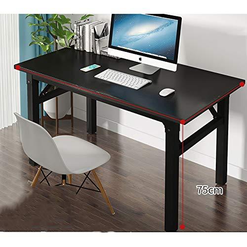 XFXDBT Plegable Casa Oficina Desk,Marco De Metal Estudio Tabla De Escritura No Se Requiere Montaje Mesa Portátil Estación para Espacio Pequeño-A 100x60x75cm/39x24x30inch