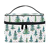 Palla Trucco Palla Albero di Natale Trenino Xmas Pine Borsa per cosmetici Borsa da viaggio per toeletta Organizer portatile con cerniera
