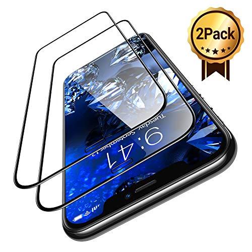 TORRAS Full Screen Panzerglasfolie kompatibel mit iPhone XR/ iPhone 11 Panzerglas [2 Stück] 3D Festigkeit Schutzfolie für iPhone 11/iPhone XR Folie Vollglas Bildschirmschutz für iPhone 11/XR - 6.1 Zoll