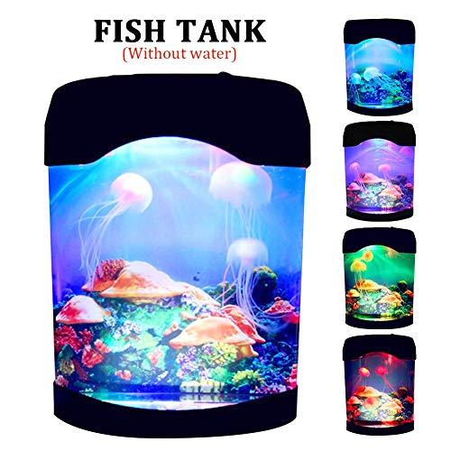 Afittel0 Jellyfishes Lampe, Aquarium Qualle Lava Lampe Farbe Ändern USB Künstlich Qualle Aquarium Für Hotel Leben Zimmer Heim Schlafzimmer Desktop Dekoration Geschenk Für Kinder