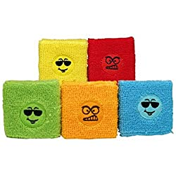 MEger 6 x Sweatband Smiley Funny and Angry Face