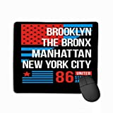 Customized Rectangle Mousepad,Cute Gaming Mouse Pad Mat 11.81 X 9.84 Inch Typography Varsity Brooklyn Bronx Manhattan New York City s Athletic Sports