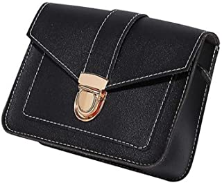 Old-School Mini Shoulder Crossbody Bag -Cover lock -Zipper Hand Strip holder in Leather –Lightweight