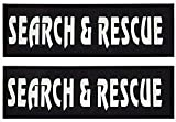 Umisun Removable Dog Patches for Vests & Harness - Reflective / 2' x 6' Large White Letter/2...