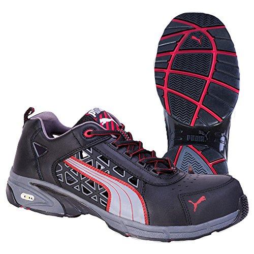 Puma Stream Red - Calzado de protección (talla 48) color negro