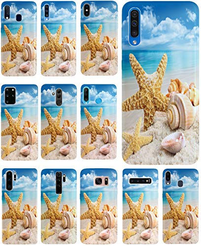 KX-Mobile - Carcasa para Samsung S20, diseño 1217, playa, vacaciones, conchas marrón y azul, funda de silicona prémium, funda protectora para Samsung Galaxy S20